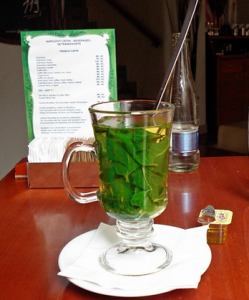 What time is it in Prague? Mint tea time.