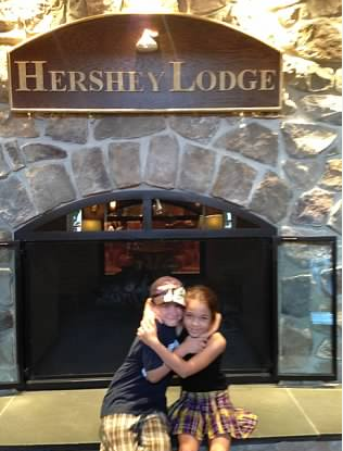 hershey lodge lobby cozy fireplace hershey, pa