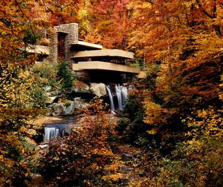 Fallingwater national historic landmark - Maison sur la cascade ...