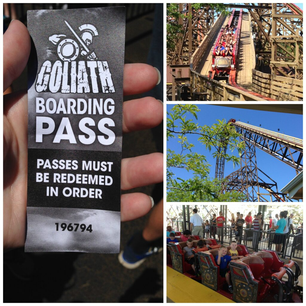 Goliath, the world record roller coaster at Six Flags Great America