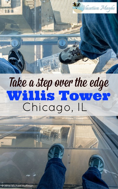 Willis Tower, formerly know as Sears Tower is open for visitors to ride to the top in an elevator for a view and if you dare, you can take a step over the edge in a glass box.