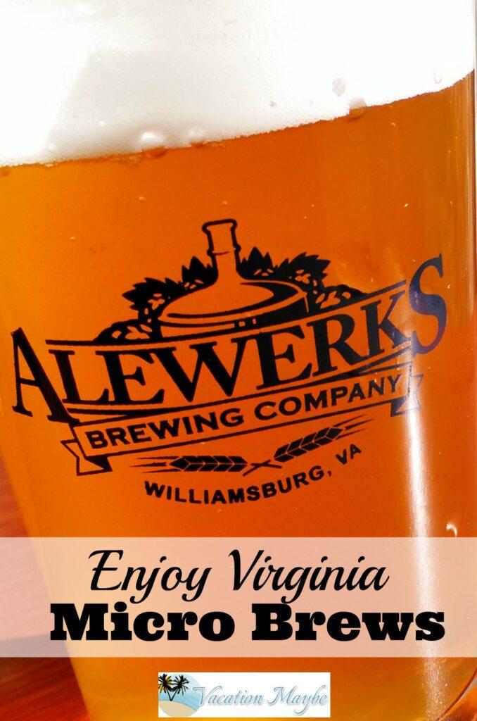 Alewerks Brewing Company in Williamsburg VA