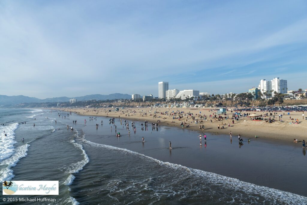 Santa Monica Pier Theme Park and Beach