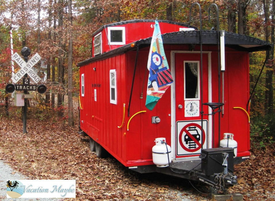 Caboose Camper back door