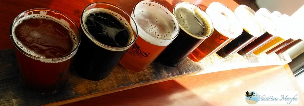 Alewerks Brewing Company Flight of Beers