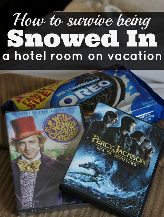 How to survive being snowed in you hotel room on vacation