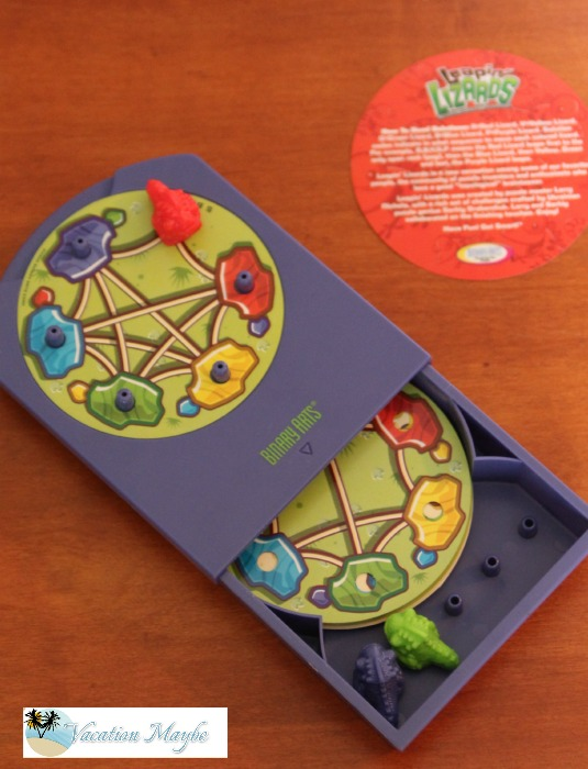 Leaping Lizards top view of a great game for travel games