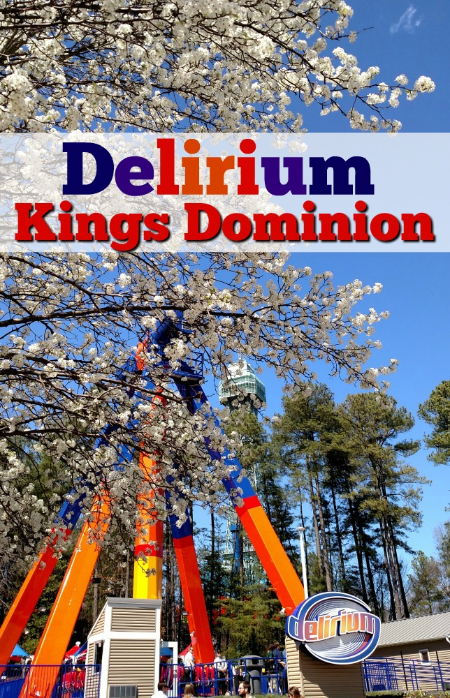 Experience Delirium, Kings Dominion's newest ride, open Spring 2016. I am impressed with all the beautiful changes at Kings Dominion. The park is really becoming a beautiful place.