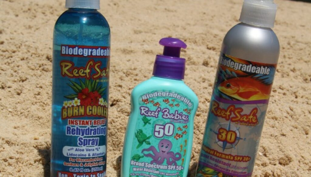 Reef Safe Sunscreen at the lake