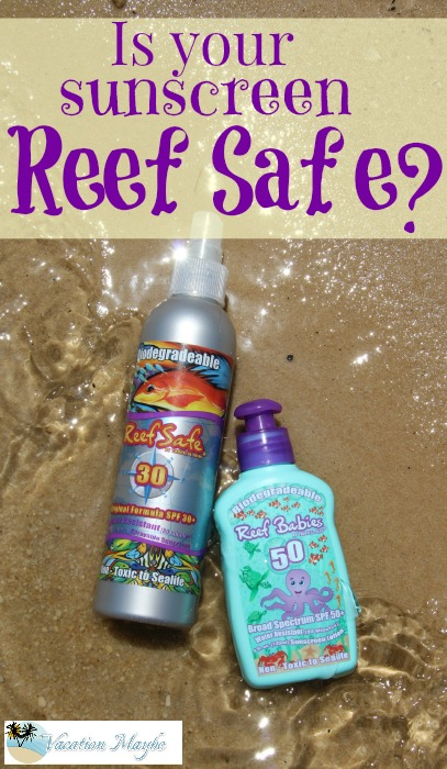 Reef Safe Sunscreen is biodegradeable and non-toxic to sea life