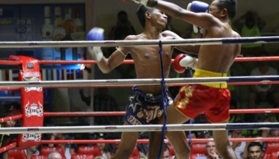 Thailand Kickboxing Two fighters in the ring