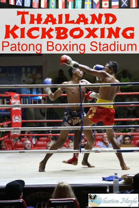 Thailand Kickboxing Two fighters in the ring at Patong Boxing Stadium