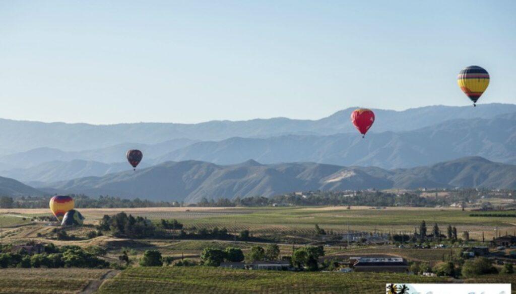 Hot air balloon rides in Temecula