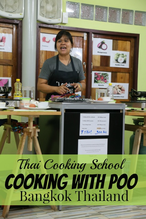 Cooking with Poo in Bangkok Thailand is a must do experience for anyone traveling to Thailand