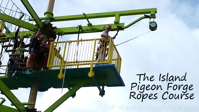 The Island Ropes Course Pigeon Forge Tennessee