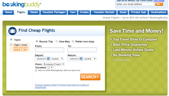 I use Booking Buddy for all of my trips to compare rates and shop all the travel deals