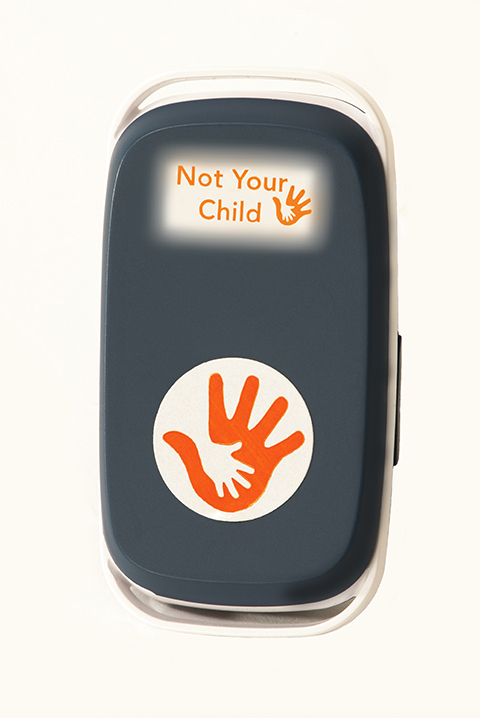 Not Your Child GPS Tracking Device is great for allowing the kids freedom when riding bikes at the campground