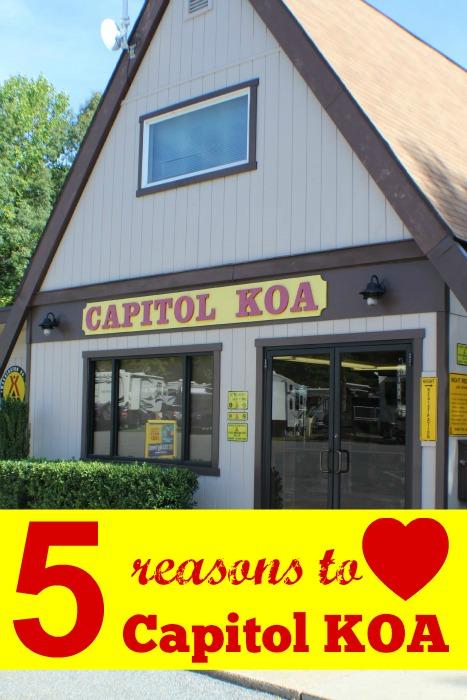 5 reasons to love the capitol KOA
