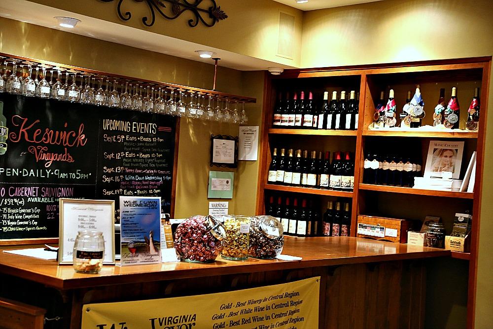 Keswick Vineyards Wine Tasting Room