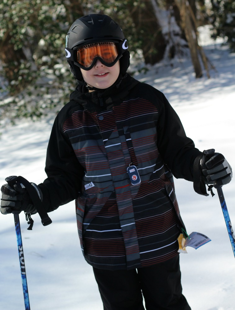 Keeping my independent skiier safe with a Not Your Child GPS Tracking Device on the slopes