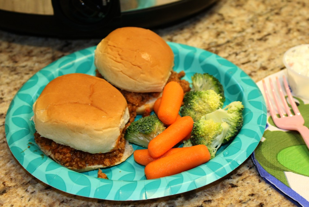 sloppy joes sliders are great for family vacations on a budget