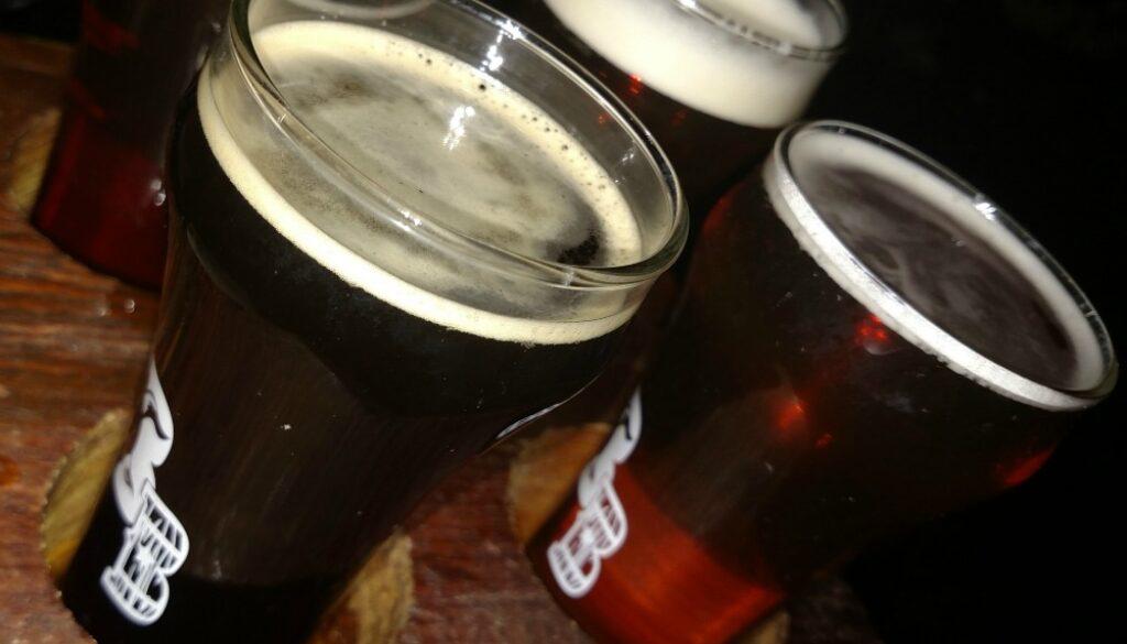 Bull and Barrel Brew Pub Beer flight