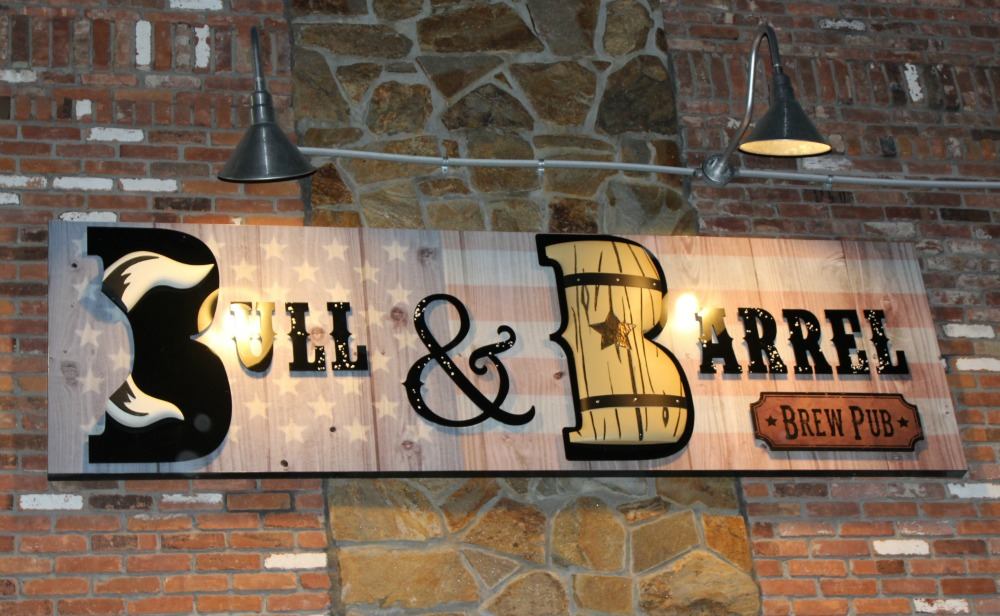 Bull and Barrel Brew Pub sign
