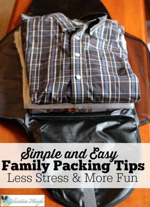 Simle and Easy Family Packing Tips using Dot and Dot Travel Folders