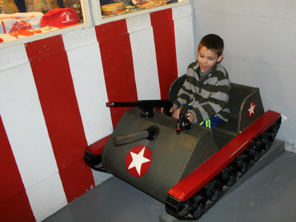 Enjoying the old toy room at the battery museum