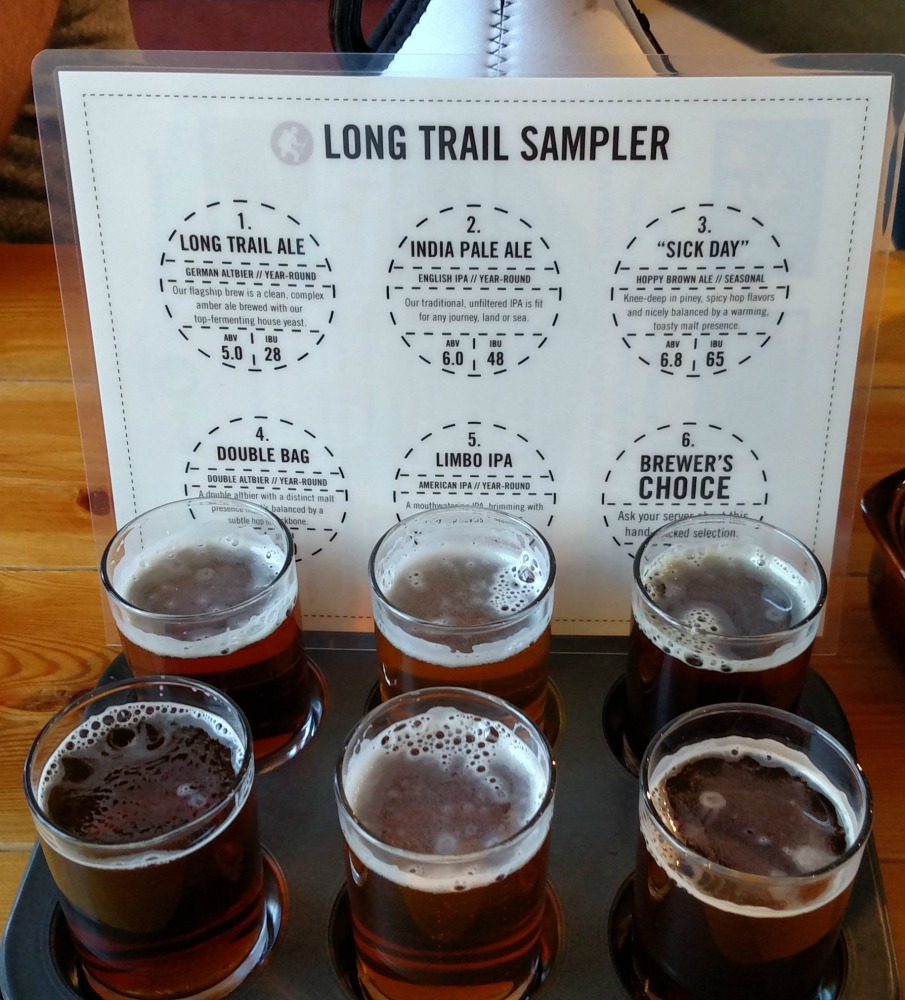 Long Trail Brewing Company Flight with the flight label