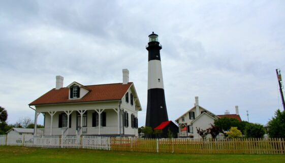 The outbuildings have been preserved to show visitor's to Tybee Island Light House what life would have been like for the family in charge.