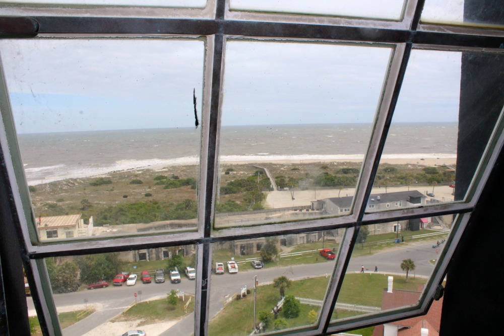 The view from the top of the Tybee Island Light House