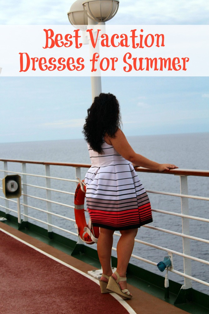 Best vacation dresses for summer for plus sized gals can be found at Lane Bryant