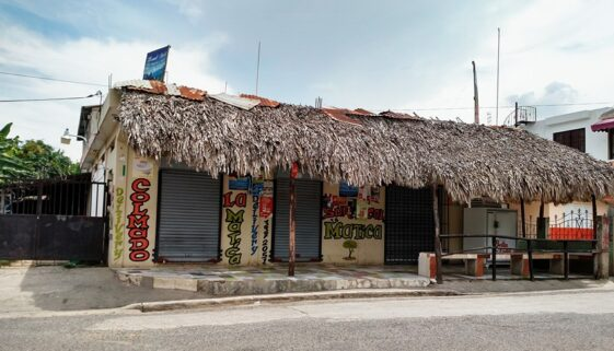 Corner store in an impoversihed neighborhood in the Dominican Republic