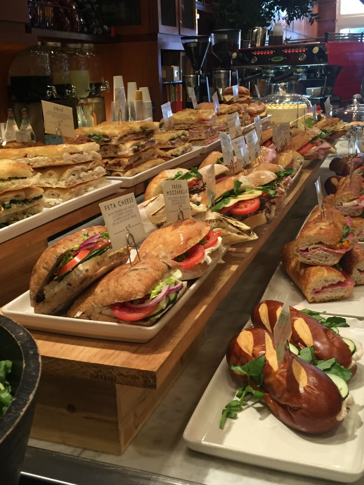 Rows of sandwiches at Mangia