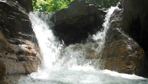 Gushing water in the 27 waterfalls