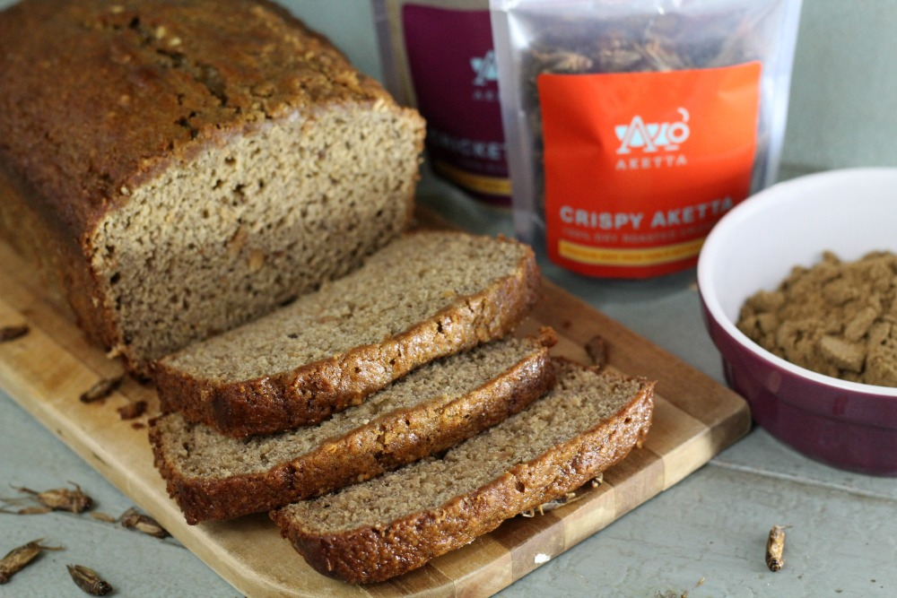 Adding protein to your diet by eating bugs is easy when you use cricket flour to make banana bread