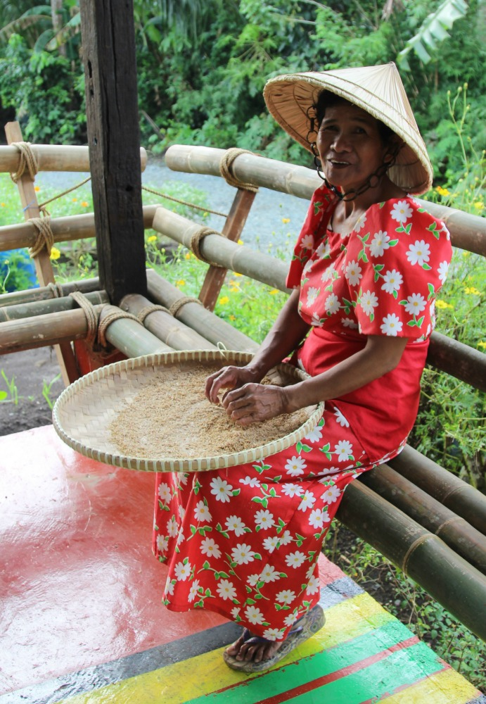We also learned about how rice is manually processed in the traditional ways
