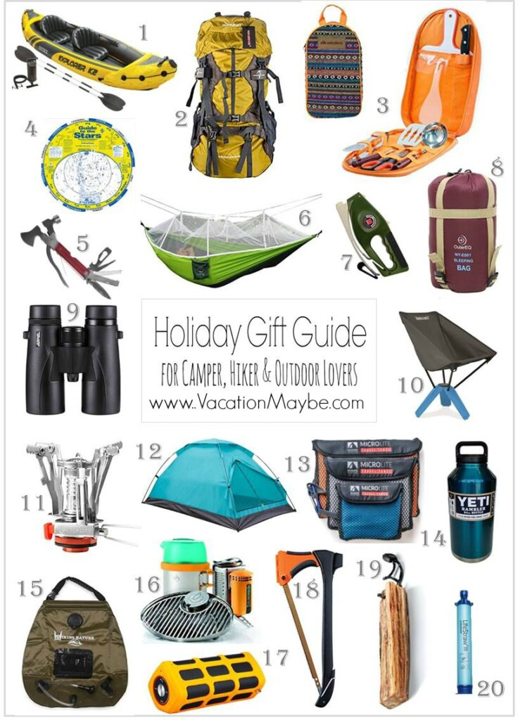 Outdoorsman Holiday Gift Guide for camping, hiking and outdoors lovers on your gift list