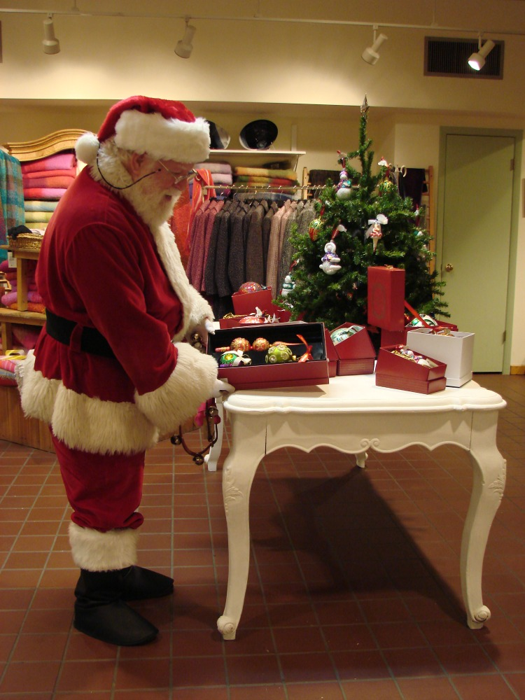 Santa at Midnight Madness Shopping is one of the many seasonal events in Annapolis