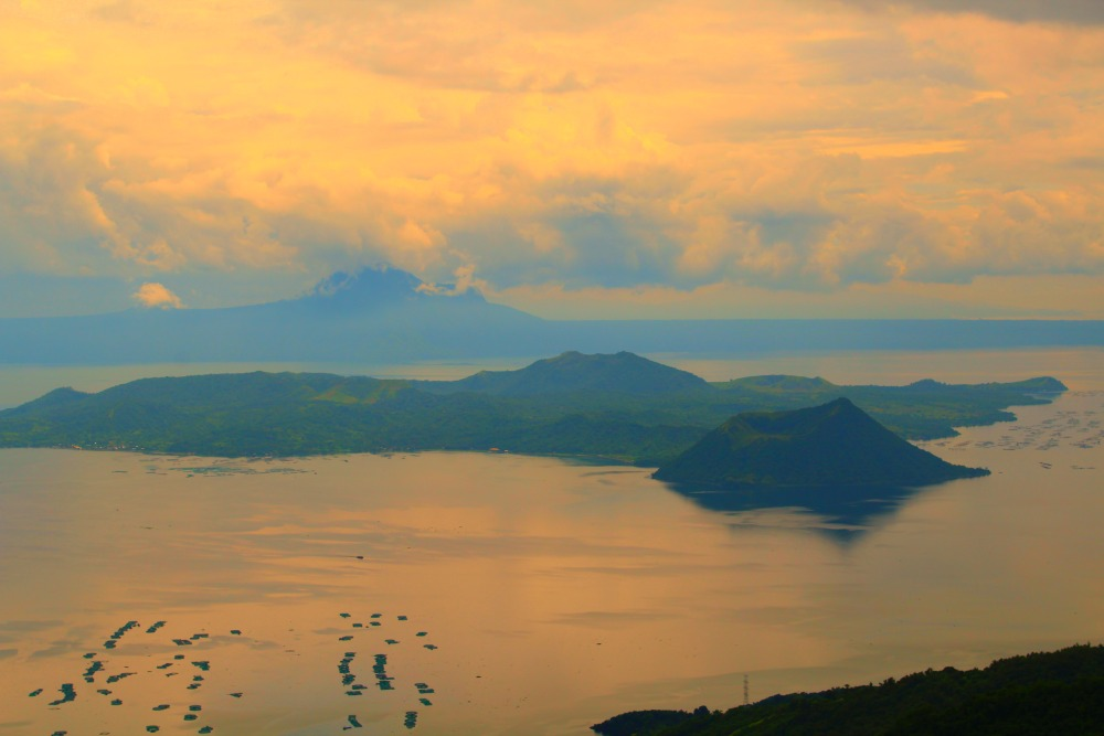 The Taal Vista Hotel view of the worlds smallest active volcano