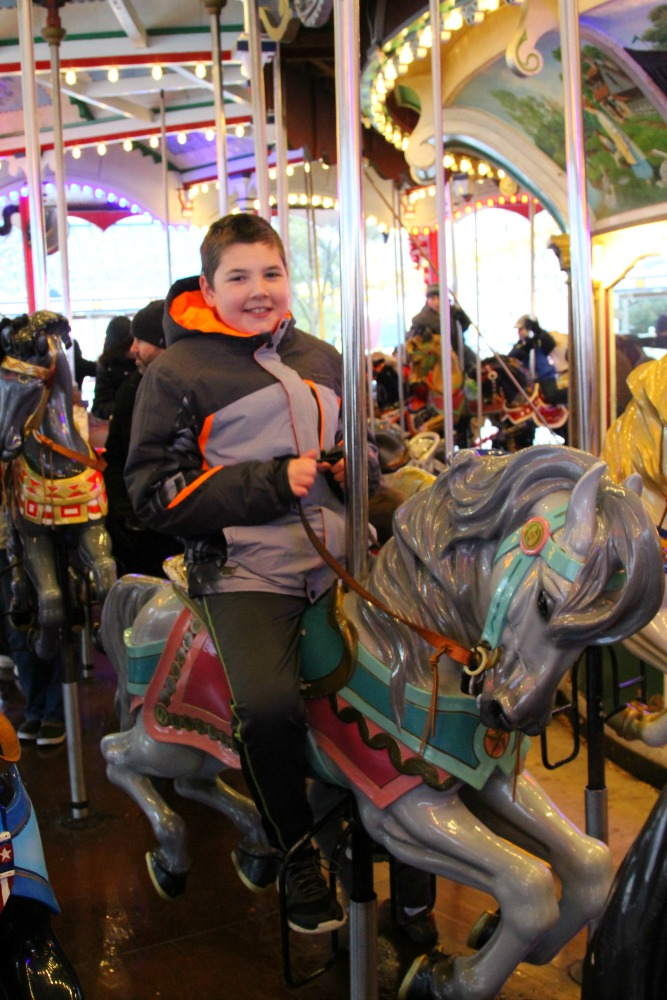 Nothing beats a carousel ride with Christmas music at Hersheypark Christmas Candylane to get you into the holiday spirit