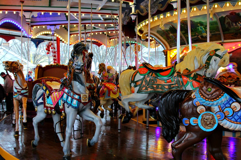 The carousel is a classic ride and fun for the whole family at Hersheypark Candy Lane