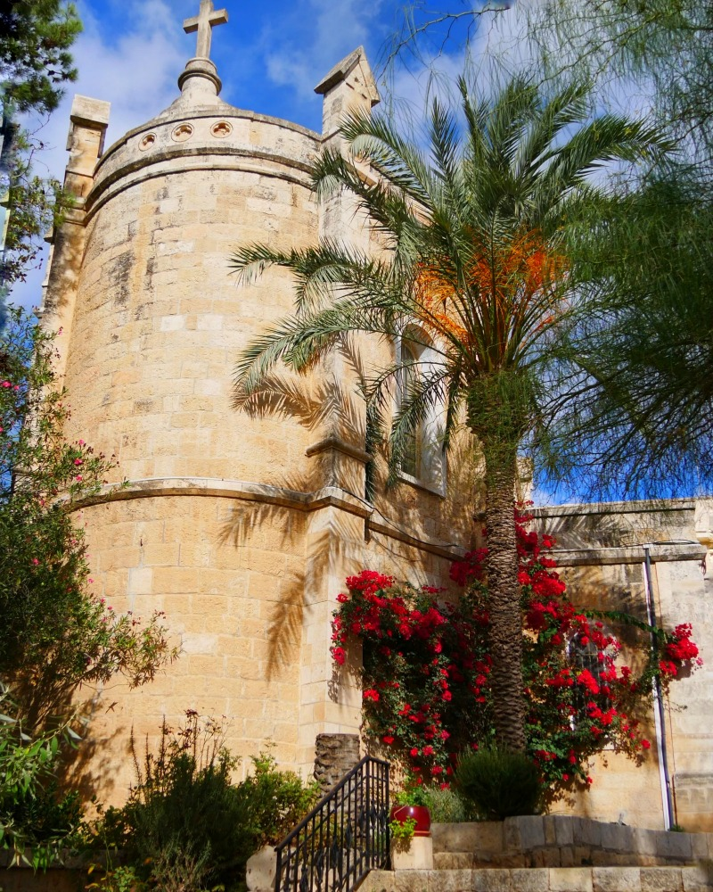 Notre Dame De Sion in Ein Kerem near Jerusalem in Israel is a beautiful tranquil place to stay and explore more of the beauty of this country