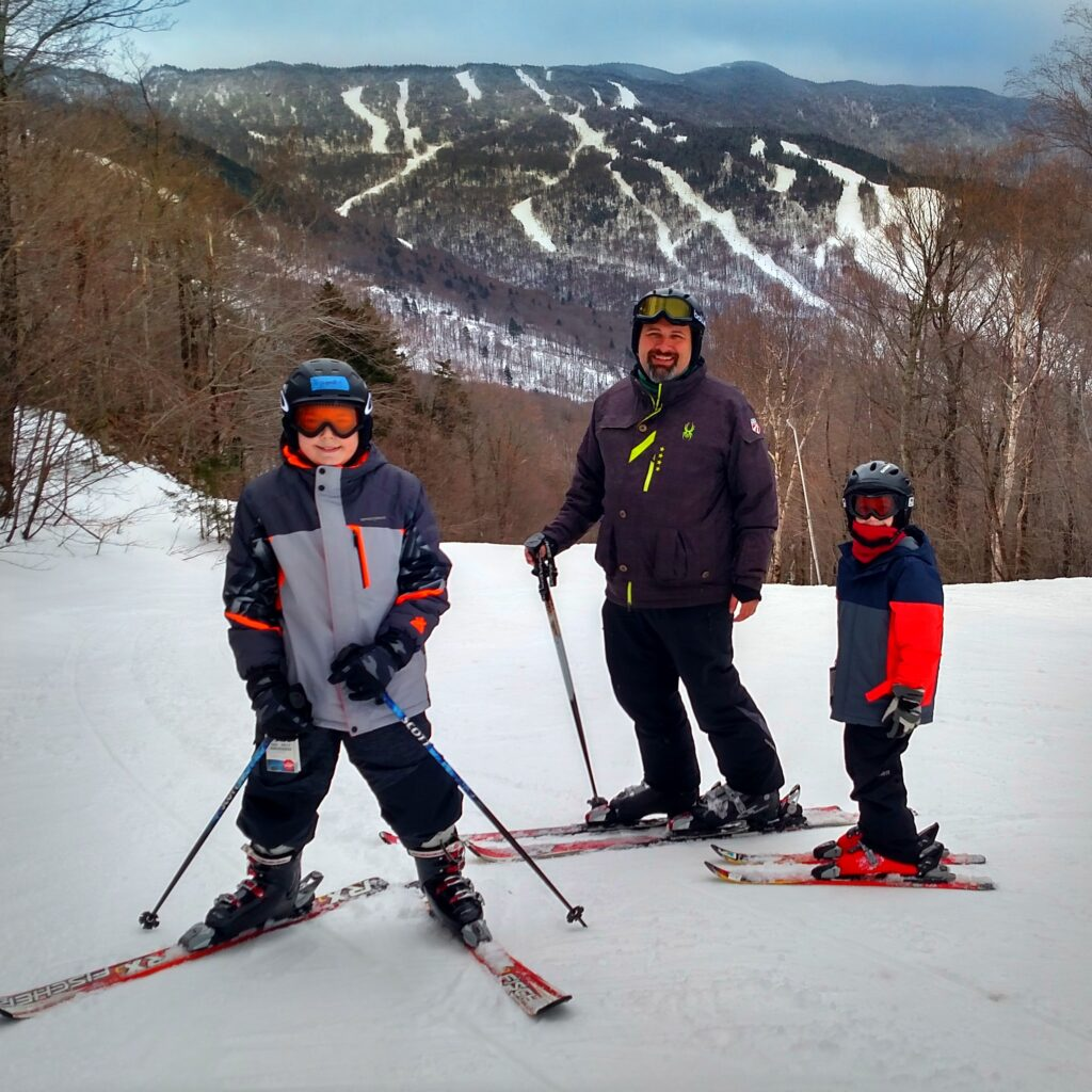 Smugglers Notch has some serious skiing. Check out the view of Sterling Mountain from the top of Morse Mountain. Three mountains with varying levels of difficulty on over 1000 skiable acres menas that everyone from novice to expert will love skiing here.