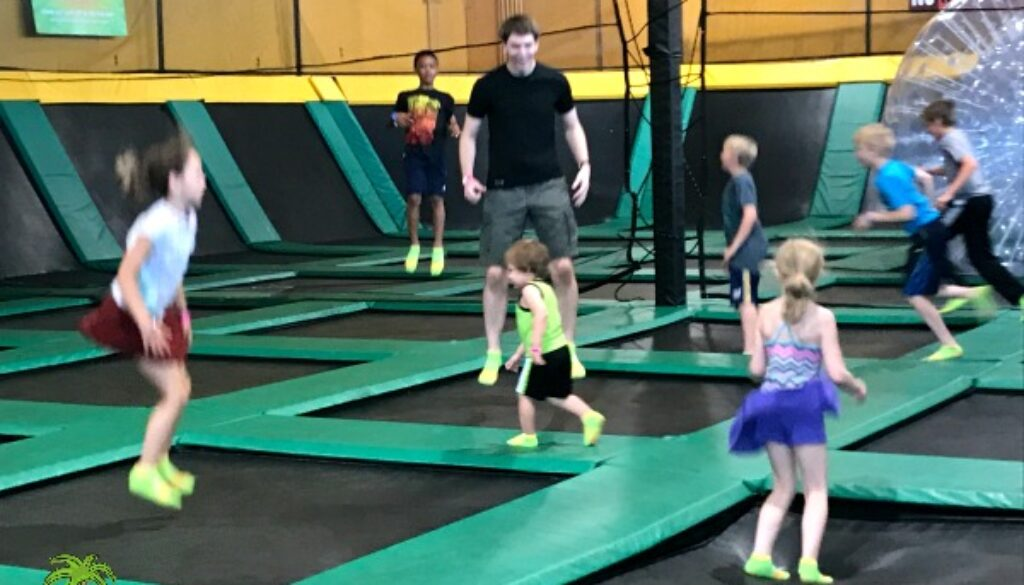 Rockin' Jump in Madison, Wisconsin is a great family friendly activity. Great family ideas for summer fun indoors!