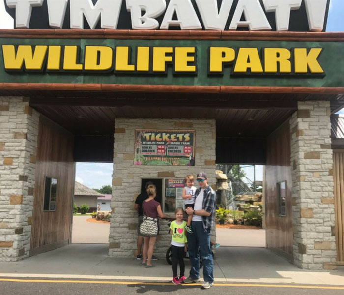 Visit Timbavati Wildlife Park in Wisconsin Dells for a fun filled animal adventure!  Check out our tips for making your visit easy to manage with children!b